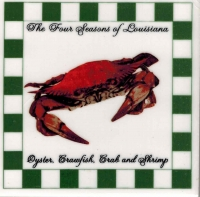 Four Seasons Crab Ceramic Tile