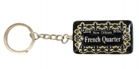 New Orleans French Quarter Lattice Key Ring