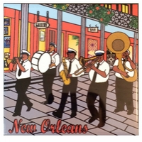 Brass Band Ceramic Tile