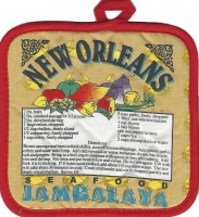 Jambalaya Recipe Pot Holder