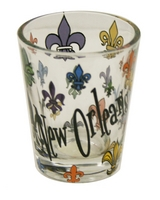 Fleur De Lis Multi Color Shot Glass